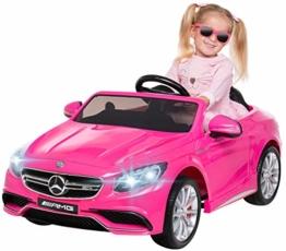 Kinder Elektroauto Mercedes S Klasse pink