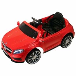 Kinder Elektroauto Mercedes Benz GLA AMG rot