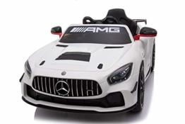 Kinder Elektroauto Mercedes GT4 weiß