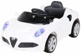Kinder Elektroauto Alfa Romeo 4C weiß