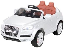 Kinder Elektroauto Audi Q7 silber lackiert