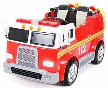 Kinder Elektroauto Feuerwehr rot