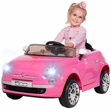 Kinder Elektroauto Fiat 500 pink