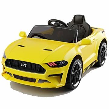 Kinder Elektroauto Ford GT Mustang GT gelb