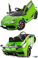 Kinder Elektroauto Lamborghini Aventador grün