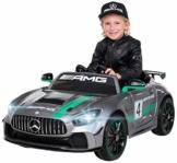 Kinder Elektroauto Mercedes GT4 AMG Silber