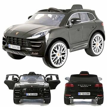 Kinder Elektroauto Porsche Macan grau