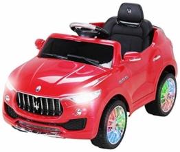 Kinder Elektroauto Maserati Levante rot